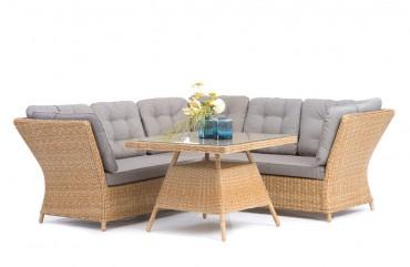 Lounge-Sofa + Tisch Mila