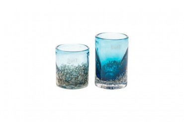 Dutz Vase Cylinder bubbl tropical blue