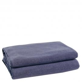 Zoeppritz-Decke Soft-Fleece indigo-blau