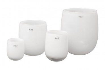 Dutz Vase barrel white