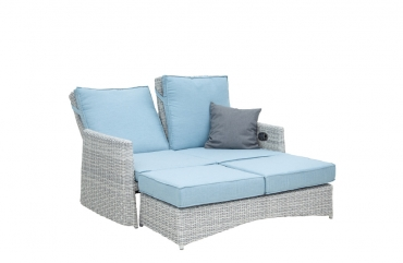 Lounge-Sofa Colorado grauweiß